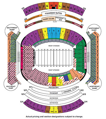 Bryant Denny Stadium Map Football Ticket Information   University of Alabama Athletics