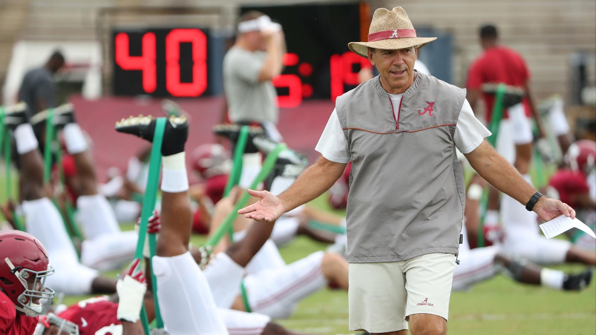 alabama football concludes day two of preparations for vanderbilt